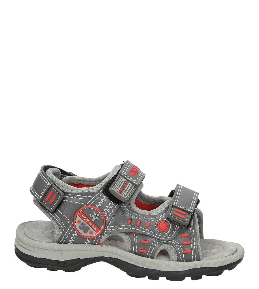 Sandały na rzepy Casu BSD5107 szary