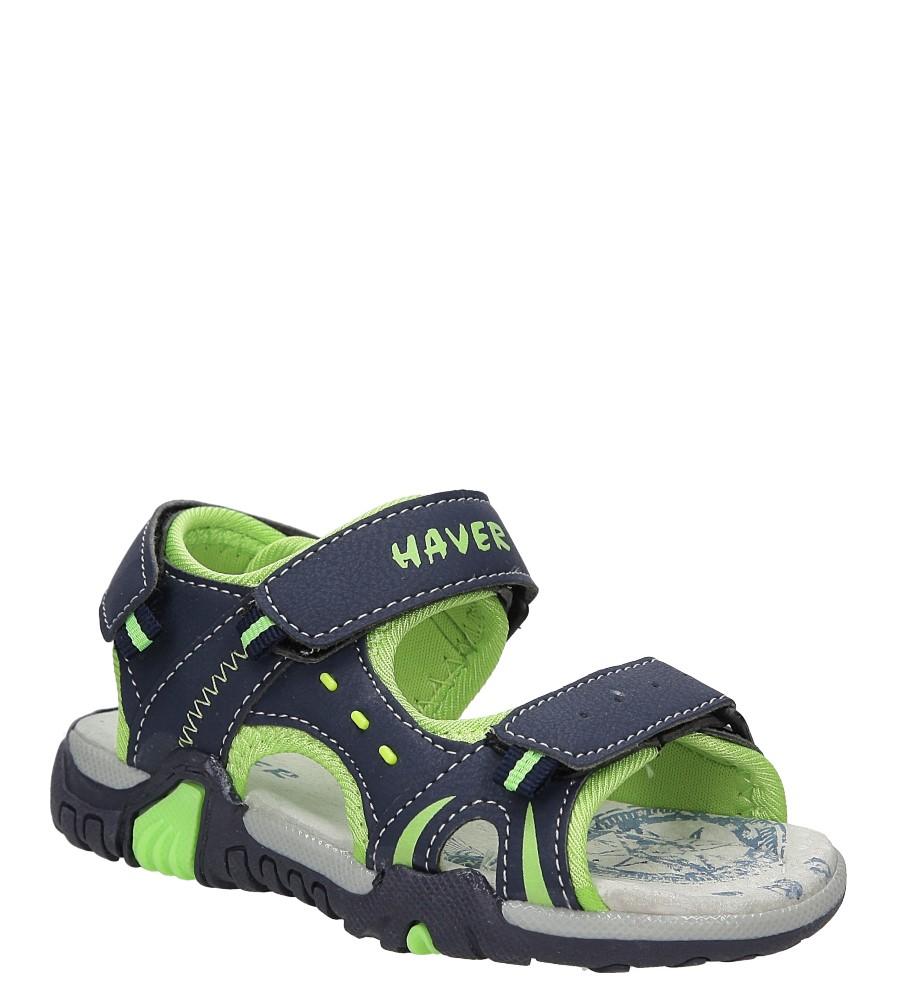Dziecięce Sandały na rzepy Casu ME05D niebieski;;