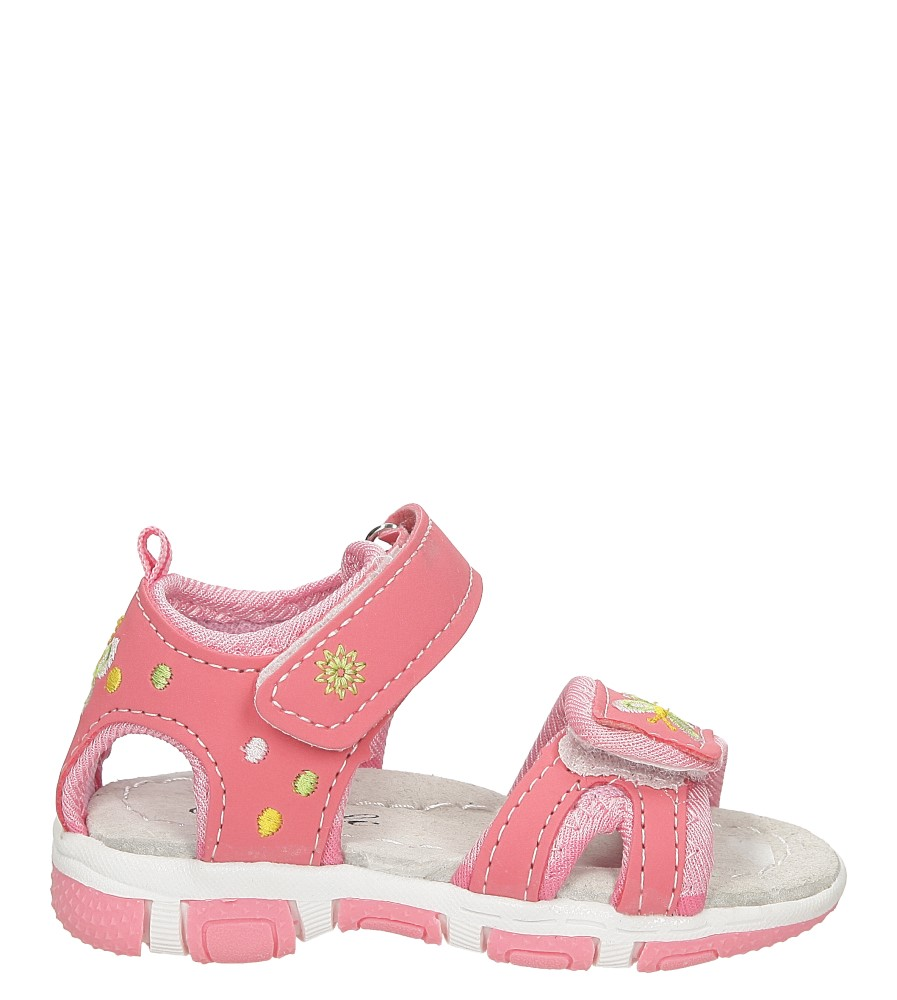 Dziecięce Sandały haftowane na rzepy Casu GF-YF18 różowy;;