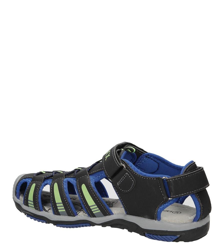 Sandały na rzepy Casu 7SD126 kolor czarny, niebieski