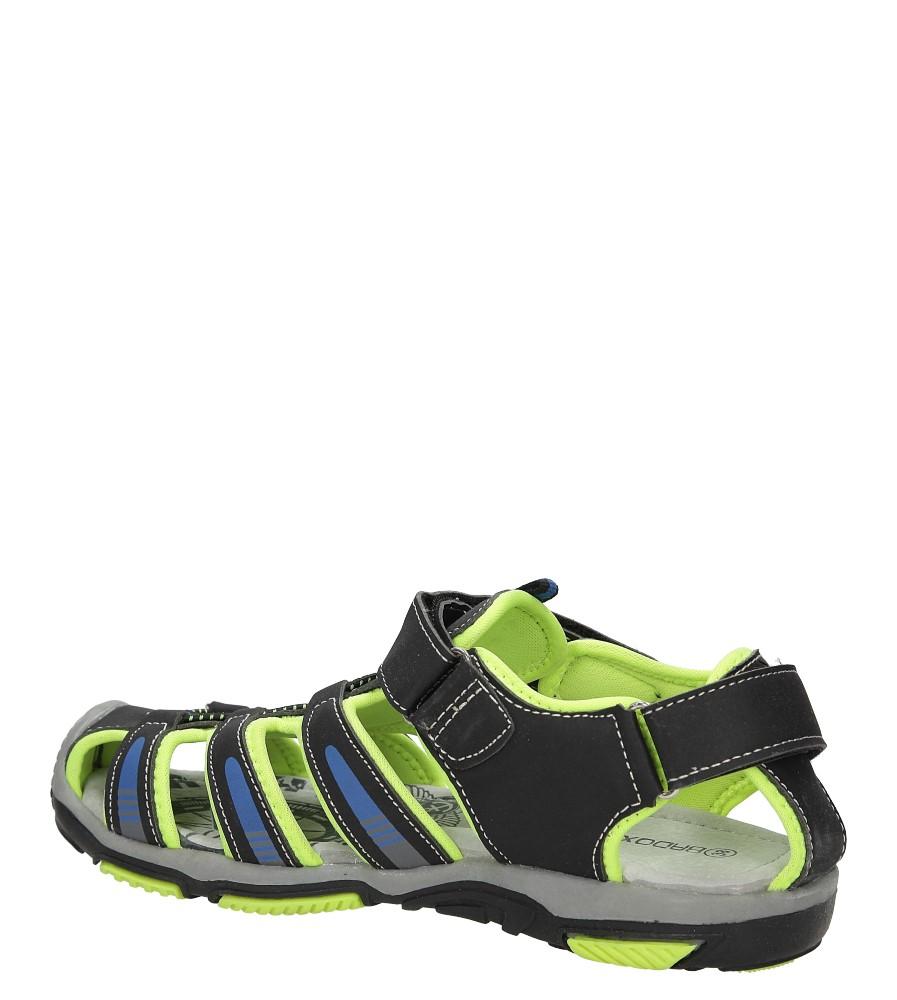 Sandały na rzepy Casu 7SD126 kolor czarny, zielony