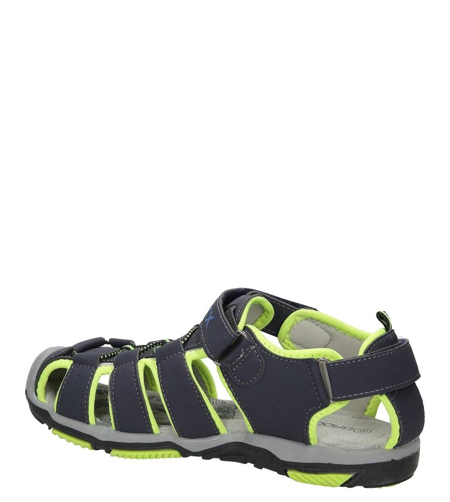 Sandały na rzepy Casu 7SD9072 kolor granatowy, zielony