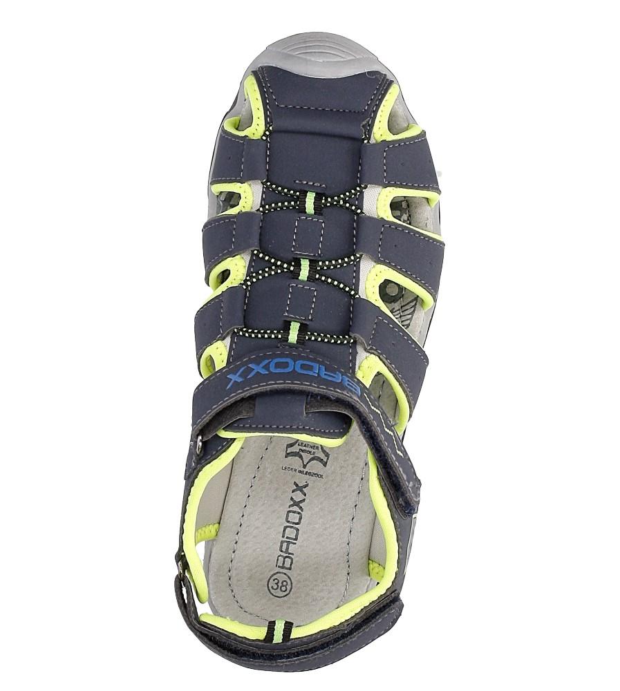 Sandały na rzepy Casu 7SD9072 wysokosc_obcasa 2.5 cm