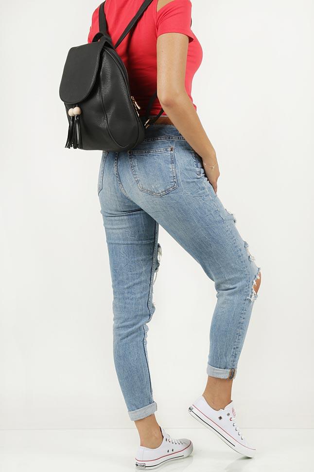 Plecak z frędzlami Casu 0098