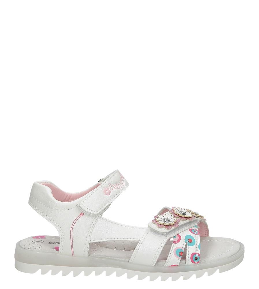 Sandały z kwiatkiem na rzepy Casu 5SD508
