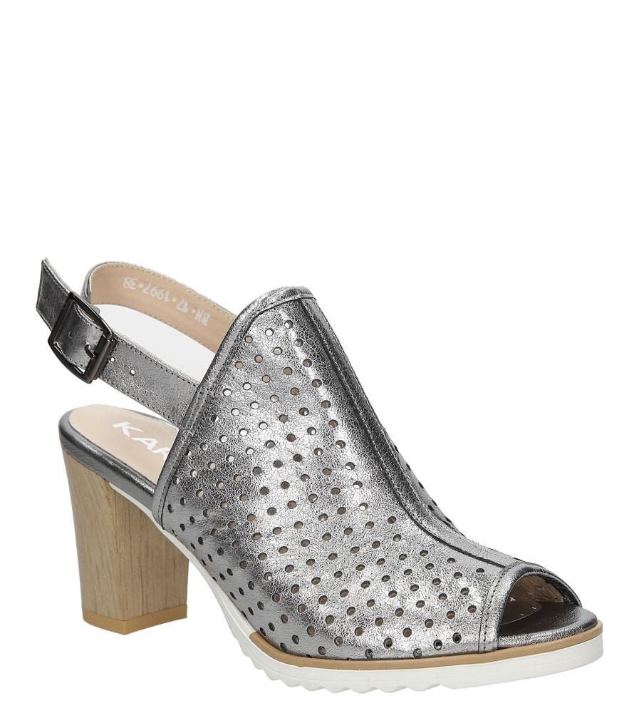 Sandały skórzane na słupku Karino 1997/078-P