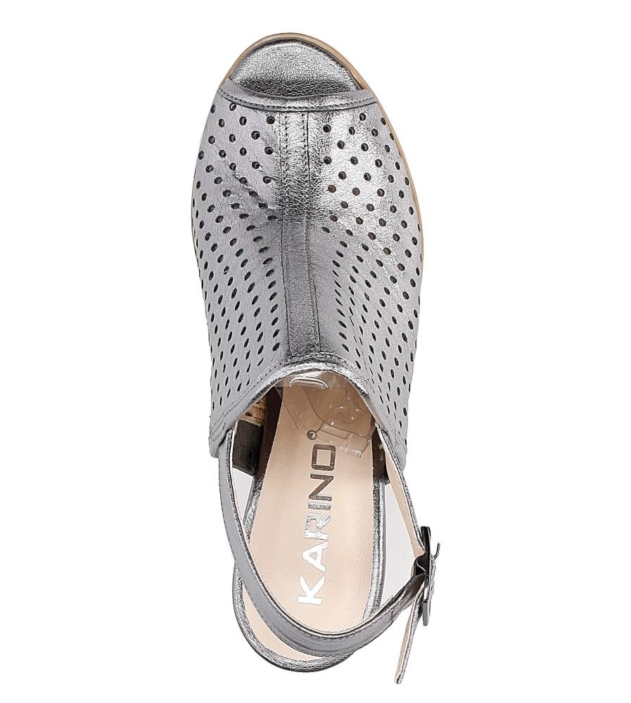 Sandały skórzane na słupku Karino 1997/078-P wysokosc_obcasa 8.5 cm
