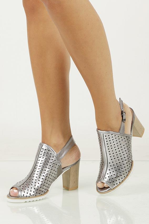 Sandały skórzane na słupku Karino 1997/078-P wierzch skóra naturalna - licowa