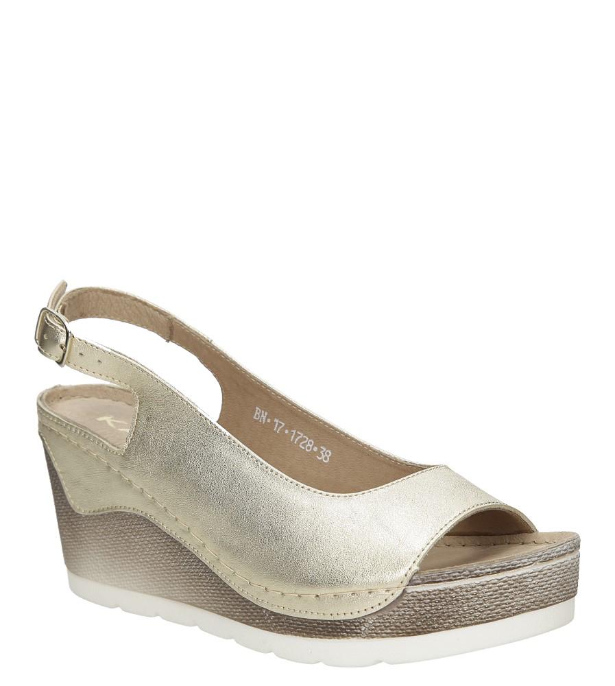 Sandały skórzane na koturnie Karino 1728/074-P