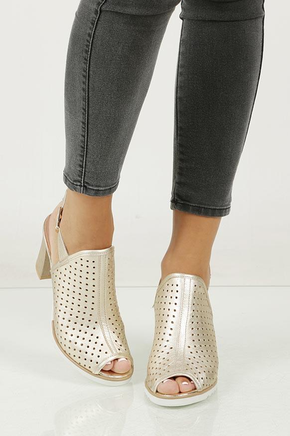 Sandały skórzane na słupku Karino 1997/078-P model 1997/074-P