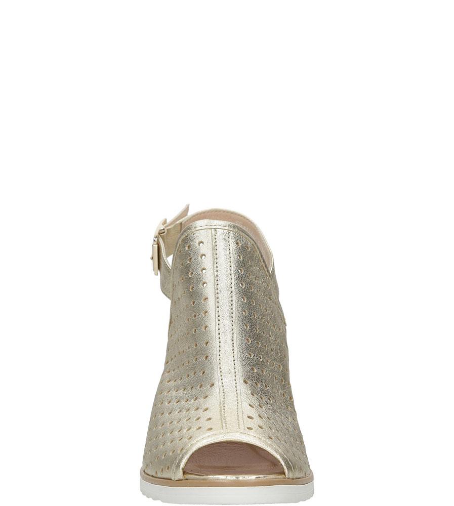 Sandały skórzane na słupku Karino 1997/078-P style Ażurowy