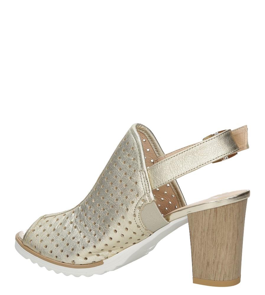 Sandały skórzane na słupku Karino 1997/078-P kolor złoty