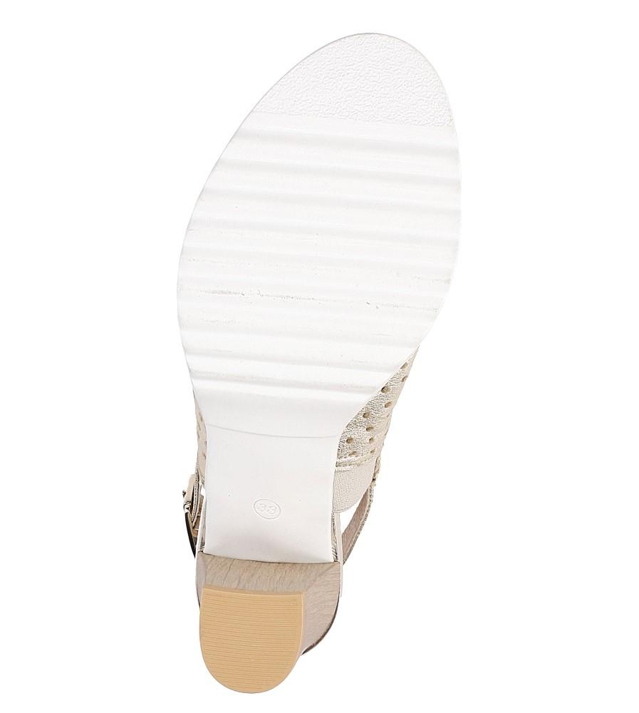 Sandały skórzane na słupku Karino 1997/078-P wysokosc_platformy 1 cm