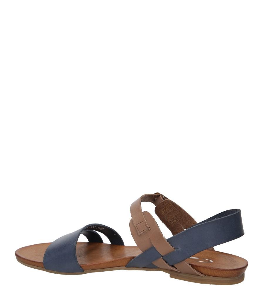 Sandały skórzane Casu 1456 wysokosc_obcasa 2 cm