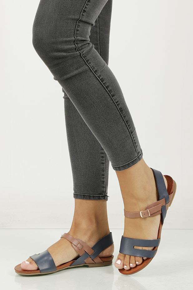 Sandały skórzane Casu 1456 material_obcasa wysokogatunkowe tworzywo