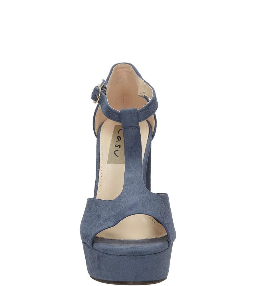 Sandały na słupku Casu AF-8669 kolor niebieski