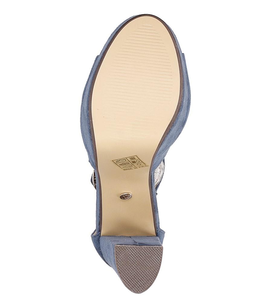Sandały na słupku Casu AF-8669 wys_calkowita_buta 19 cm