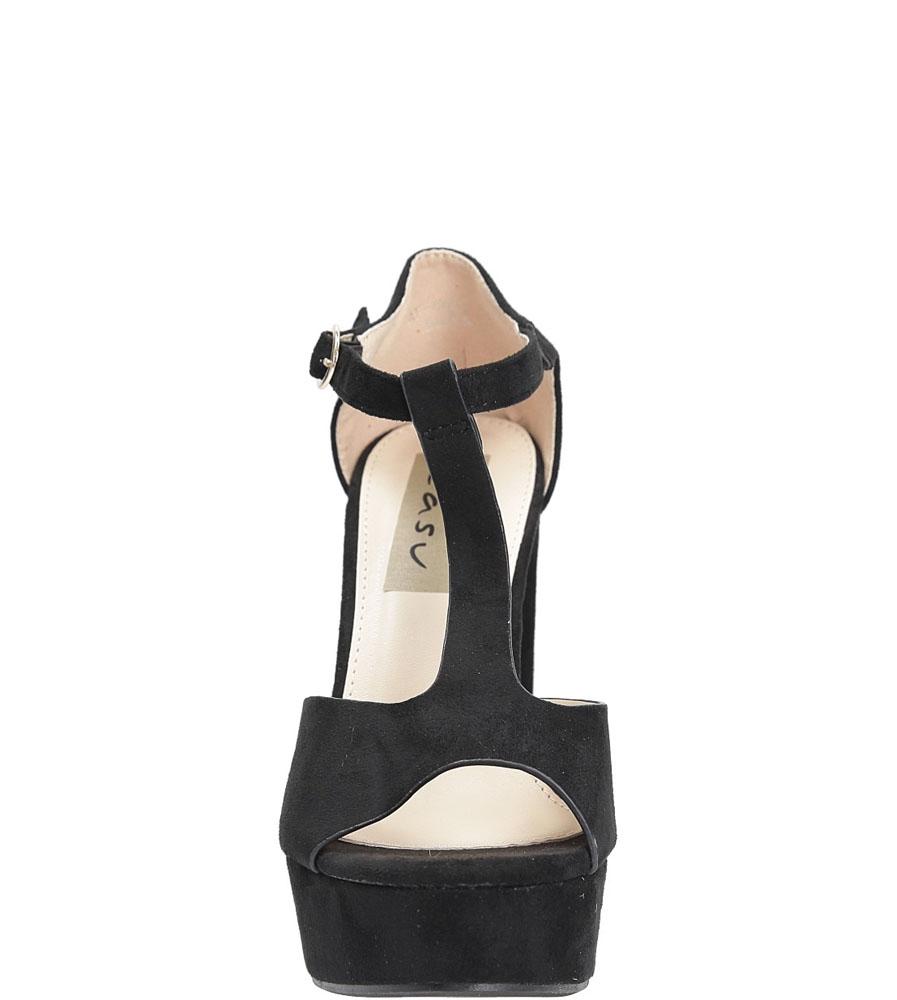 Sandały na słupku Casu AF-8669 kolor czarny