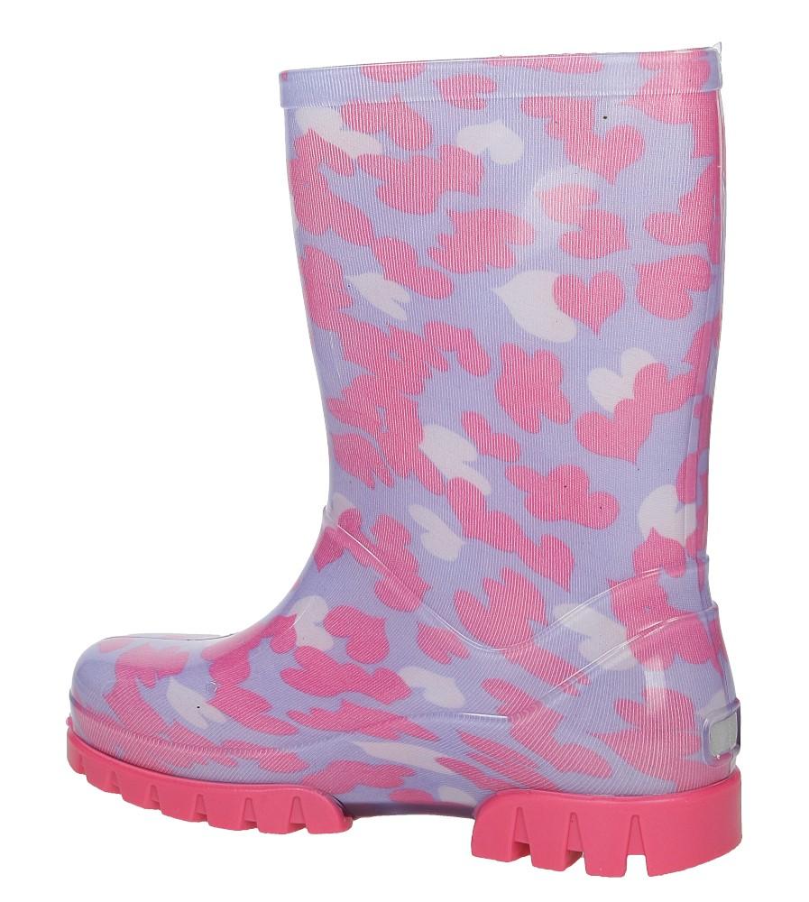 Kalosze Demar TWISTER PRINT 0037C kolor fioletowy, różowy