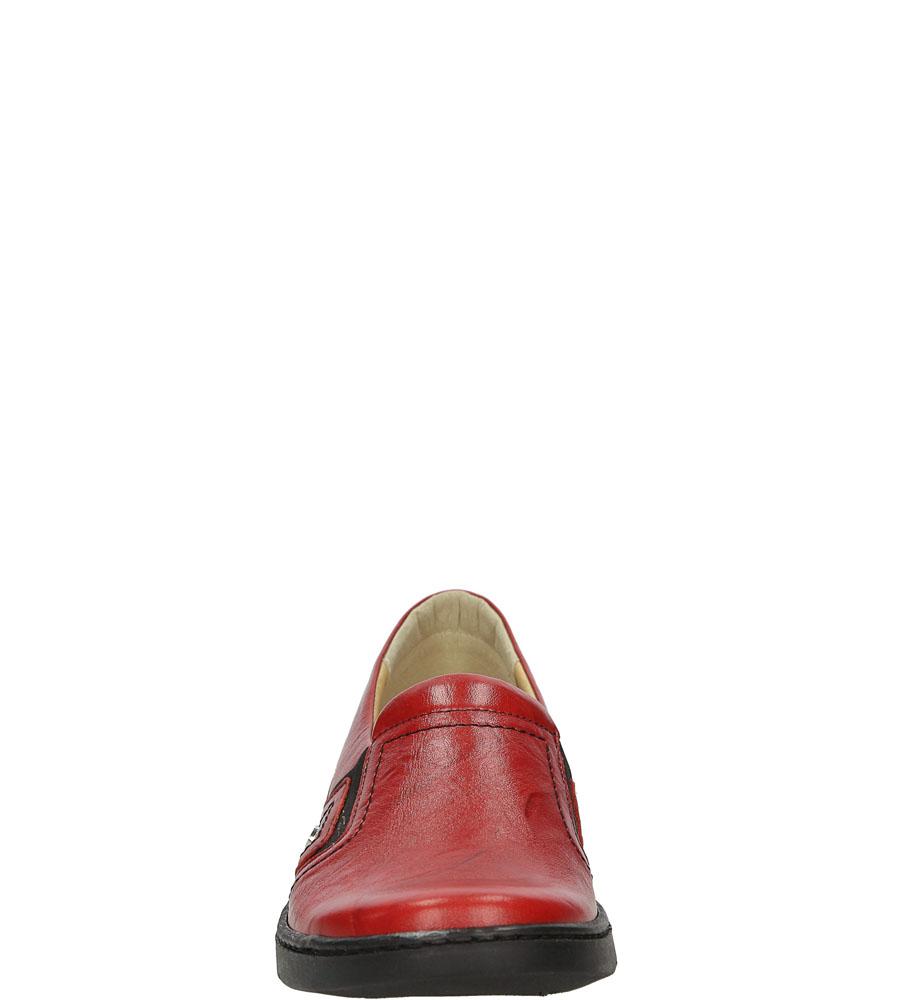 Półbuty skórzane wsuwane Casu 2039 kolor czerwony