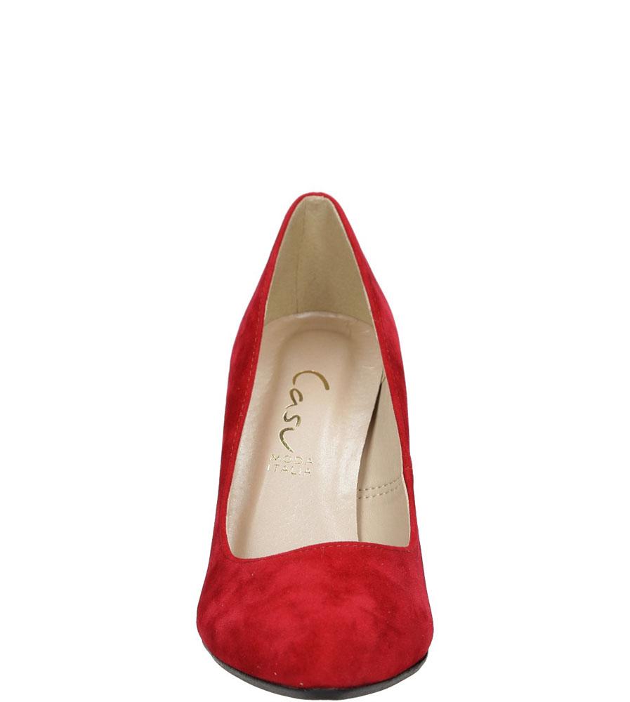 Czółenka z obcasem ozdobnym Casu 1814 kolor czerwony