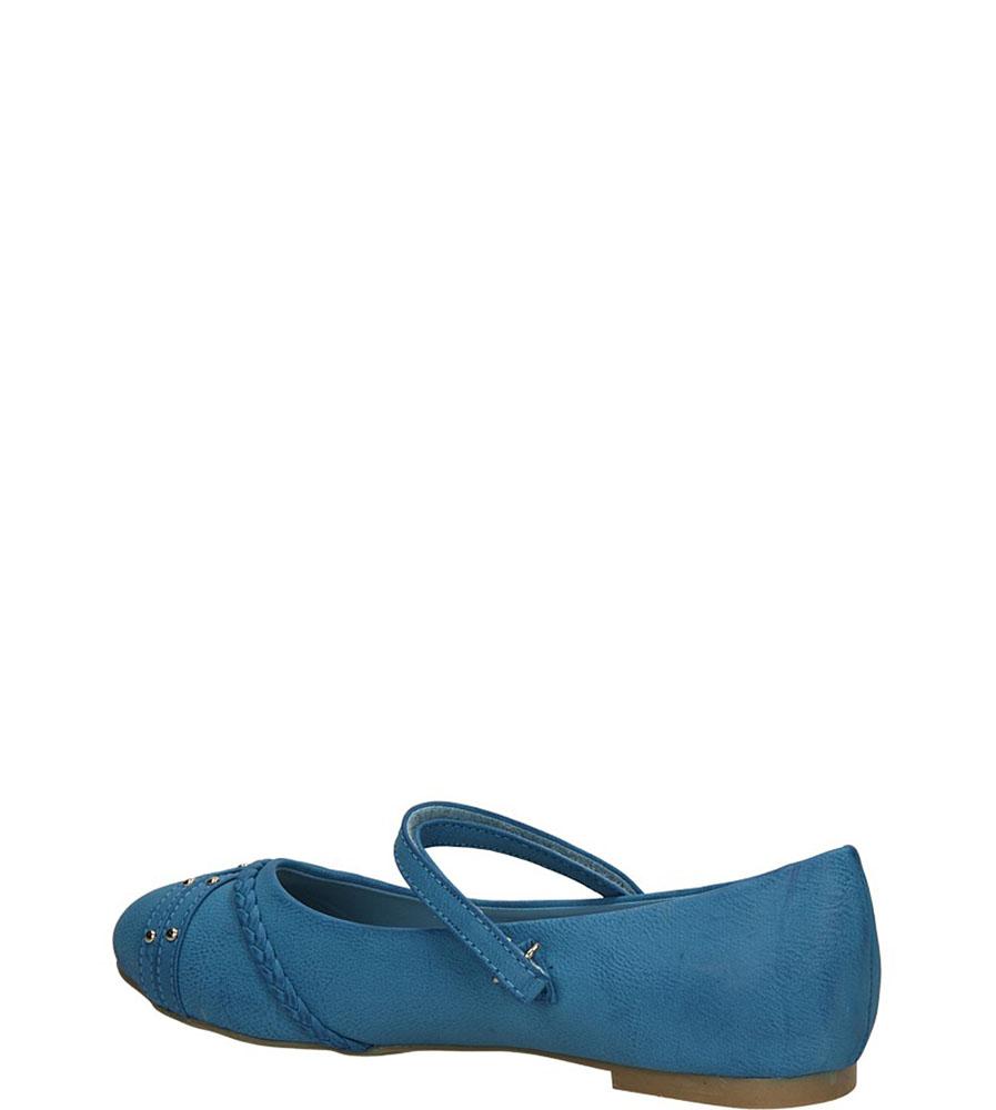 BALERINY AMERICAN K4025-B102 kolor niebieski