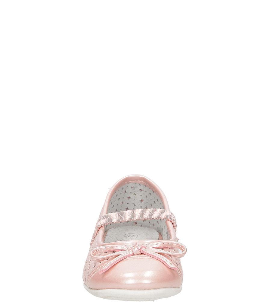 Baleriny ażurowe Casu B27722B-P kolor różowy