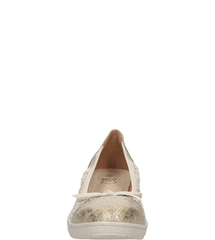 Baleriny ażurowe Casu L06721P wys_calkowita_buta 9.5 cm