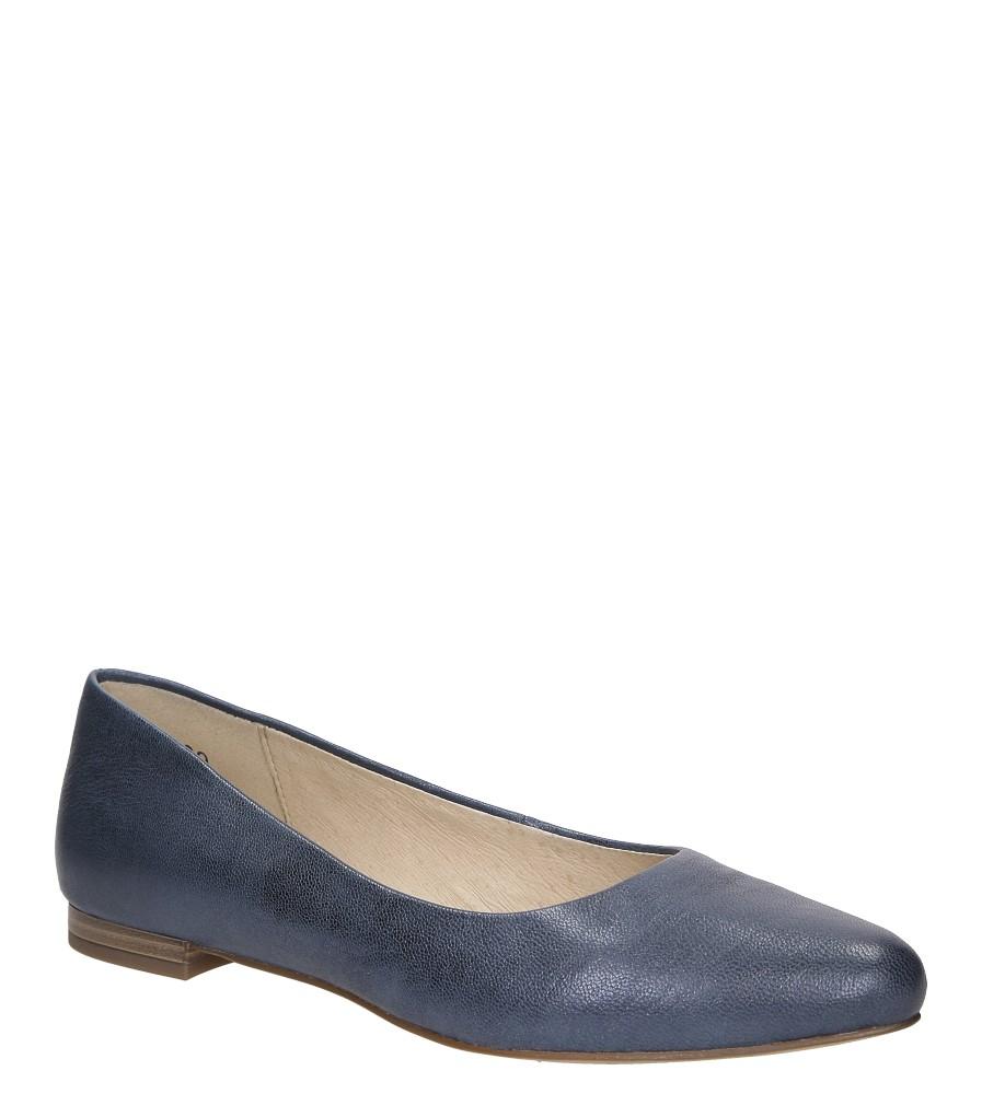 Damskie BALERINY CAPRICE 9-22107-28 niebieski;;