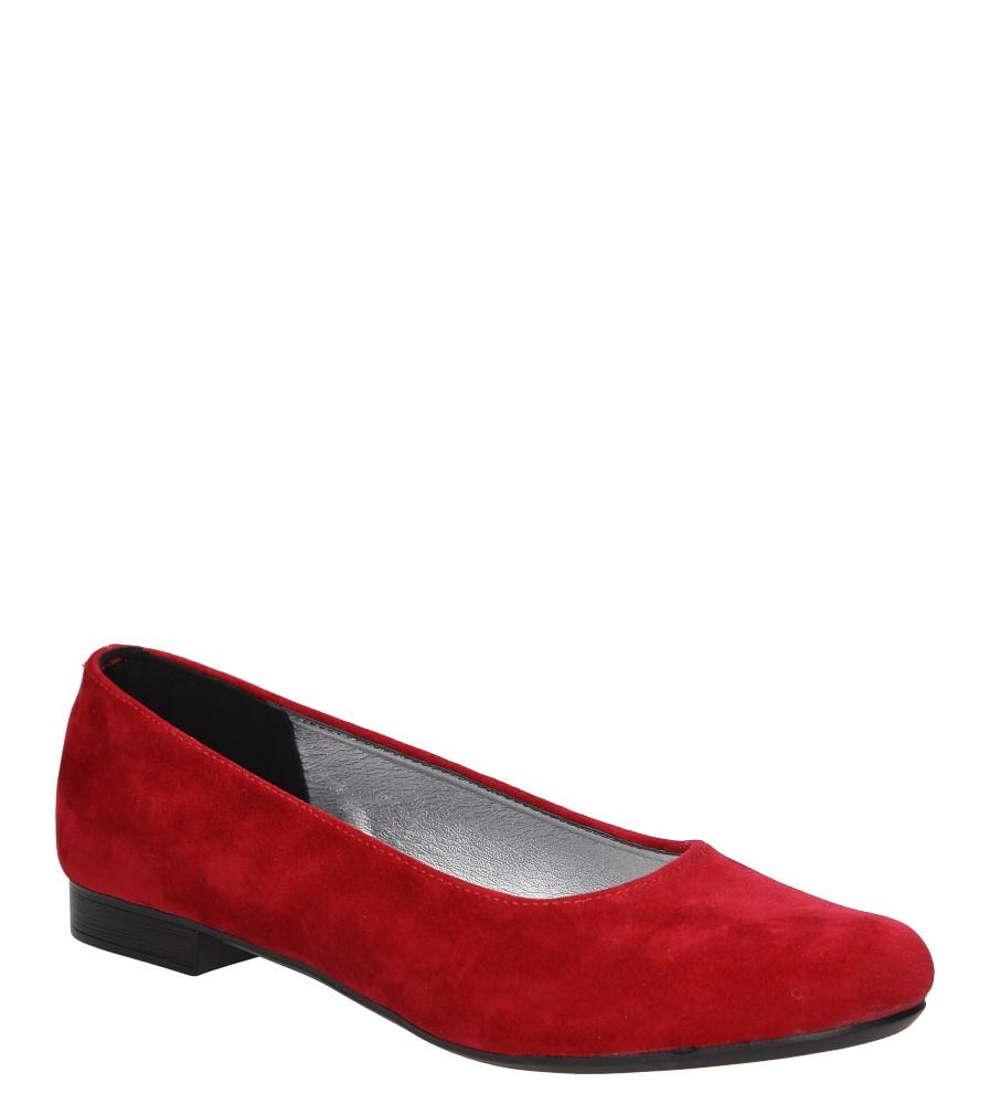 Damskie BALERINY CASU 171 czerwony;;