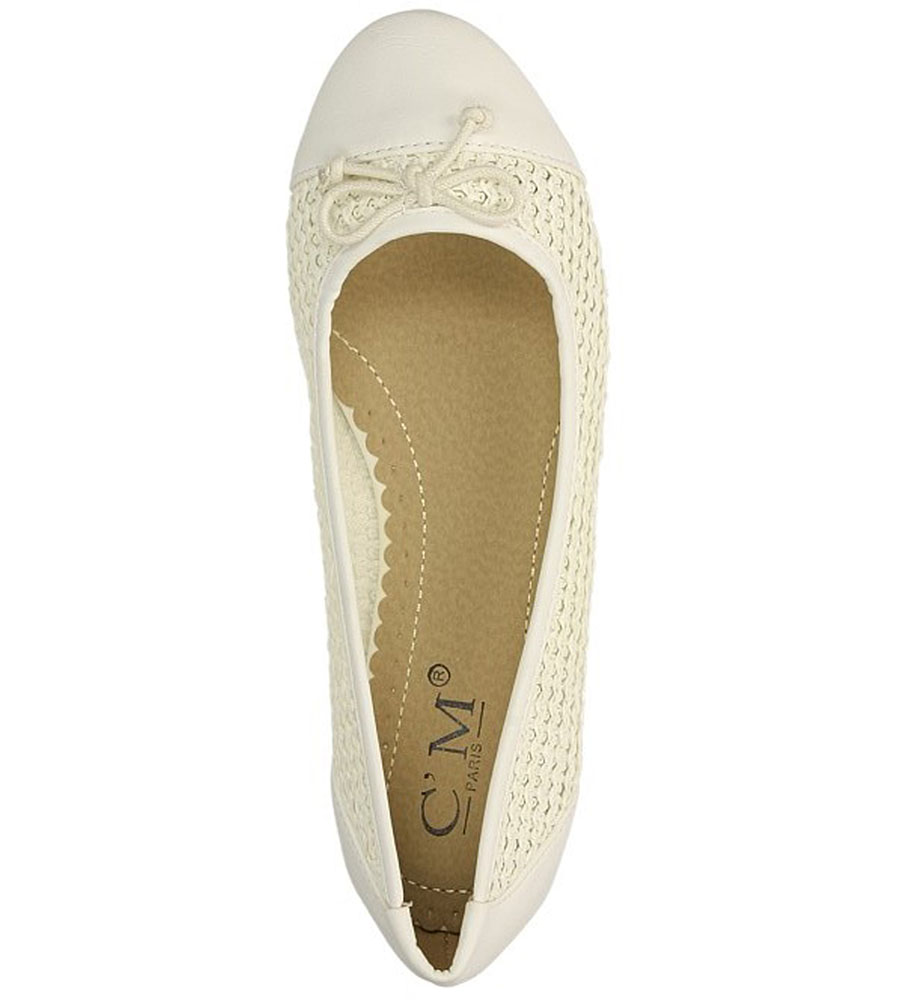 BALERINY CASU 8832-890 kolor biały