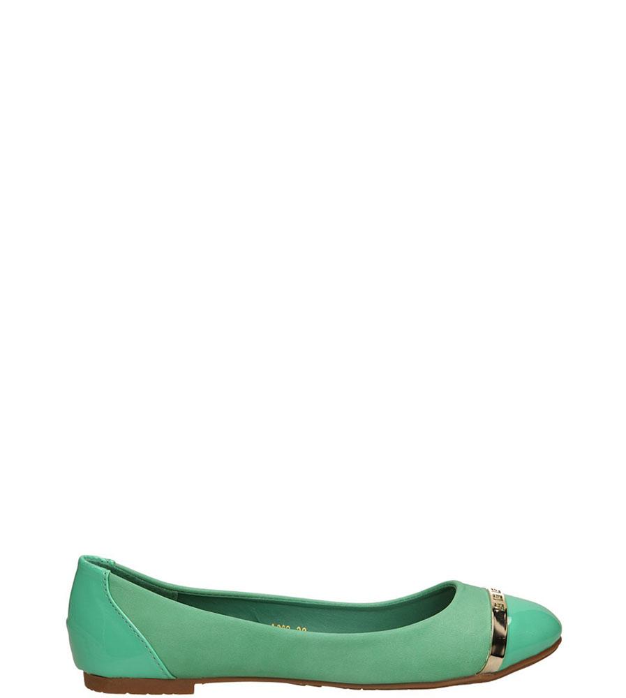 Damskie BALERINY CASU A383 zielony;;