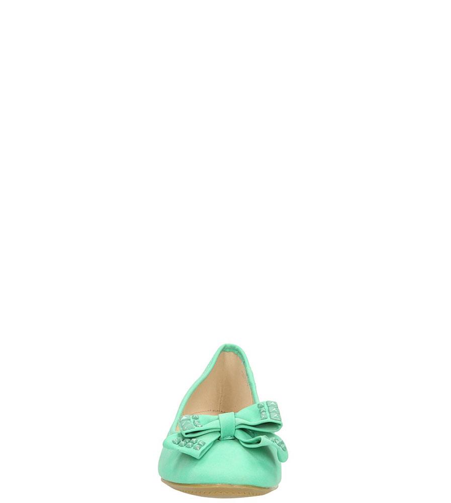 BALERINY CASU DS3502 kolor zielony