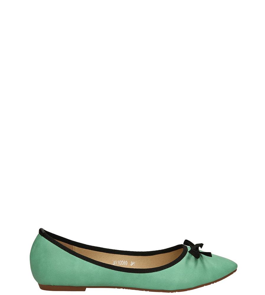 Damskie BALERINY CASU JA10089 zielony;;