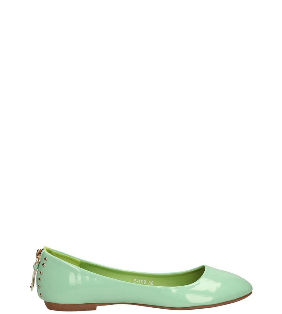 Damskie BALERINY CASU S-199 zielony;;
