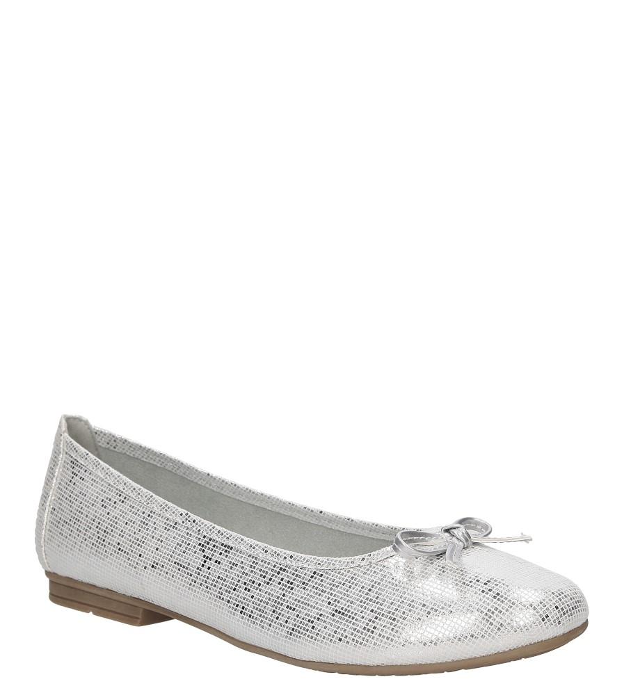 Damskie BALERINY JANA 8-22164-28 biały;srebrny;