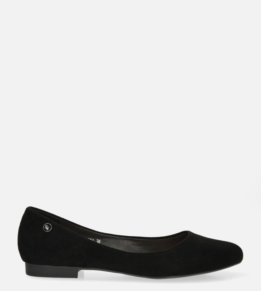 Baleriny Sergio Leone czarne BL611 kolor czarny
