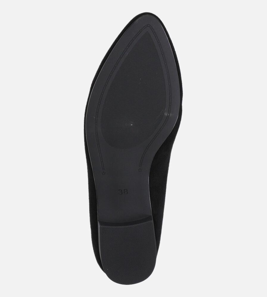 Baleriny Sergio Leone czarne BL611 wys_calkowita_buta 8 cm
