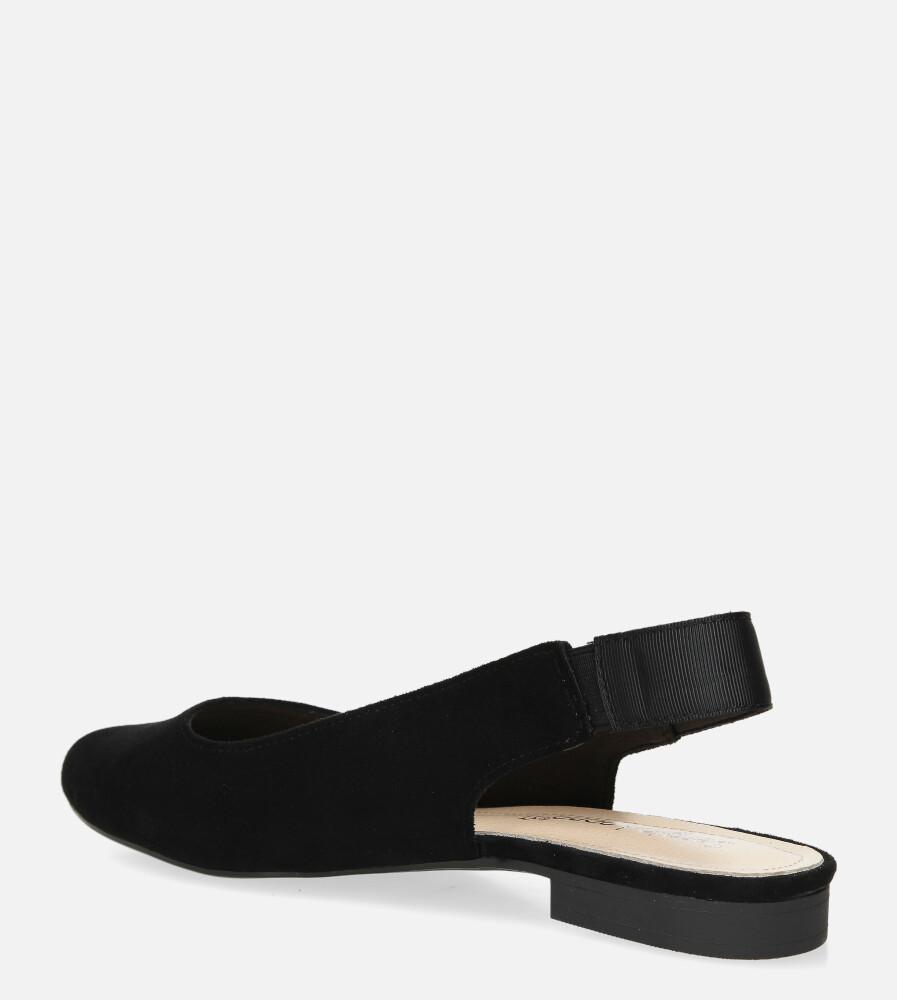 Baleriny Sergio Leone z odkrytą piętą czarne BL615 wys_calkowita_buta 9 cm