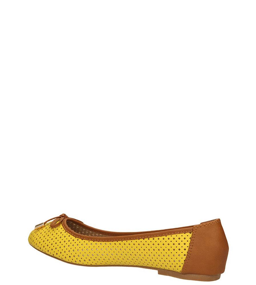 BALERINY VINCEZA R14-D-P-181 kolor żółty