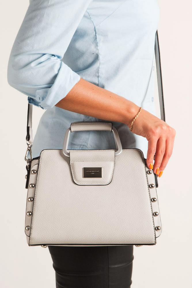 Beżowa torebka do ręki Casu S6398