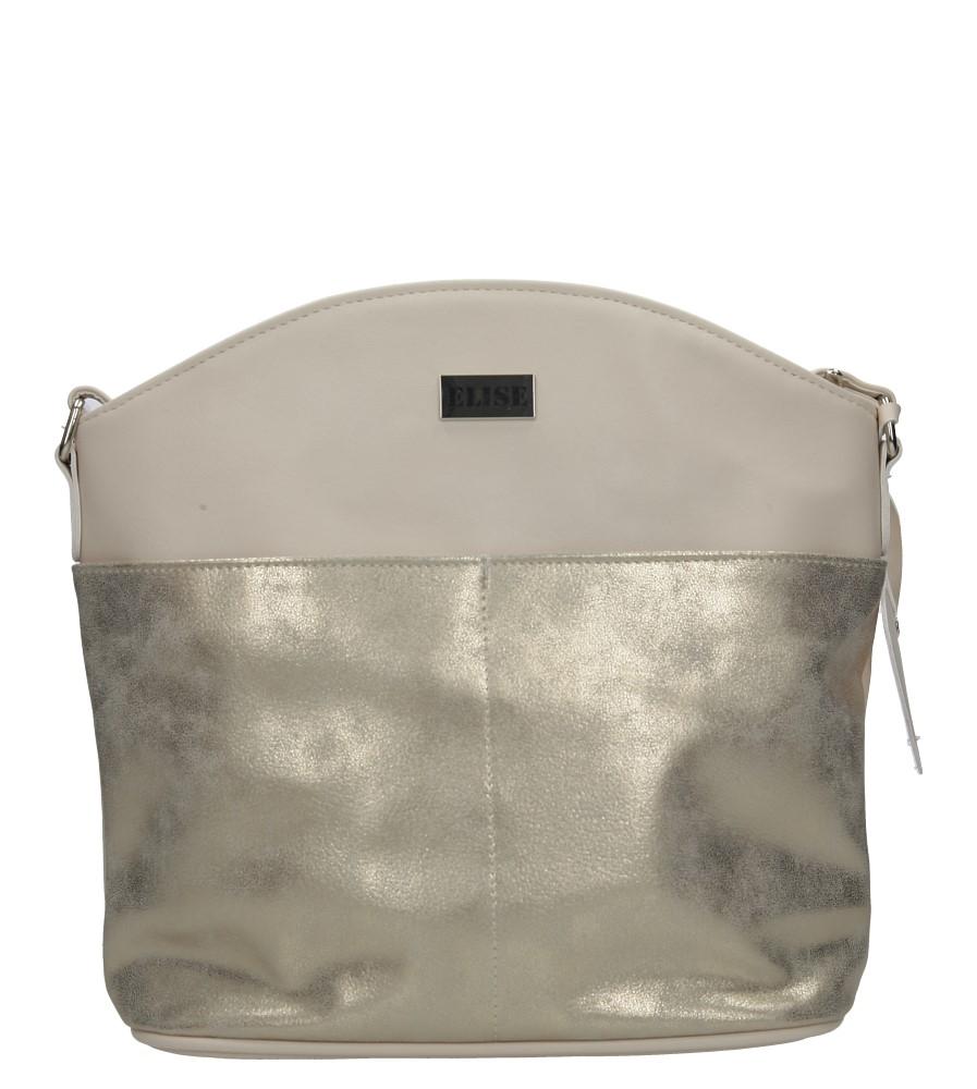 Beżowa torebka listonoszka Casu H30