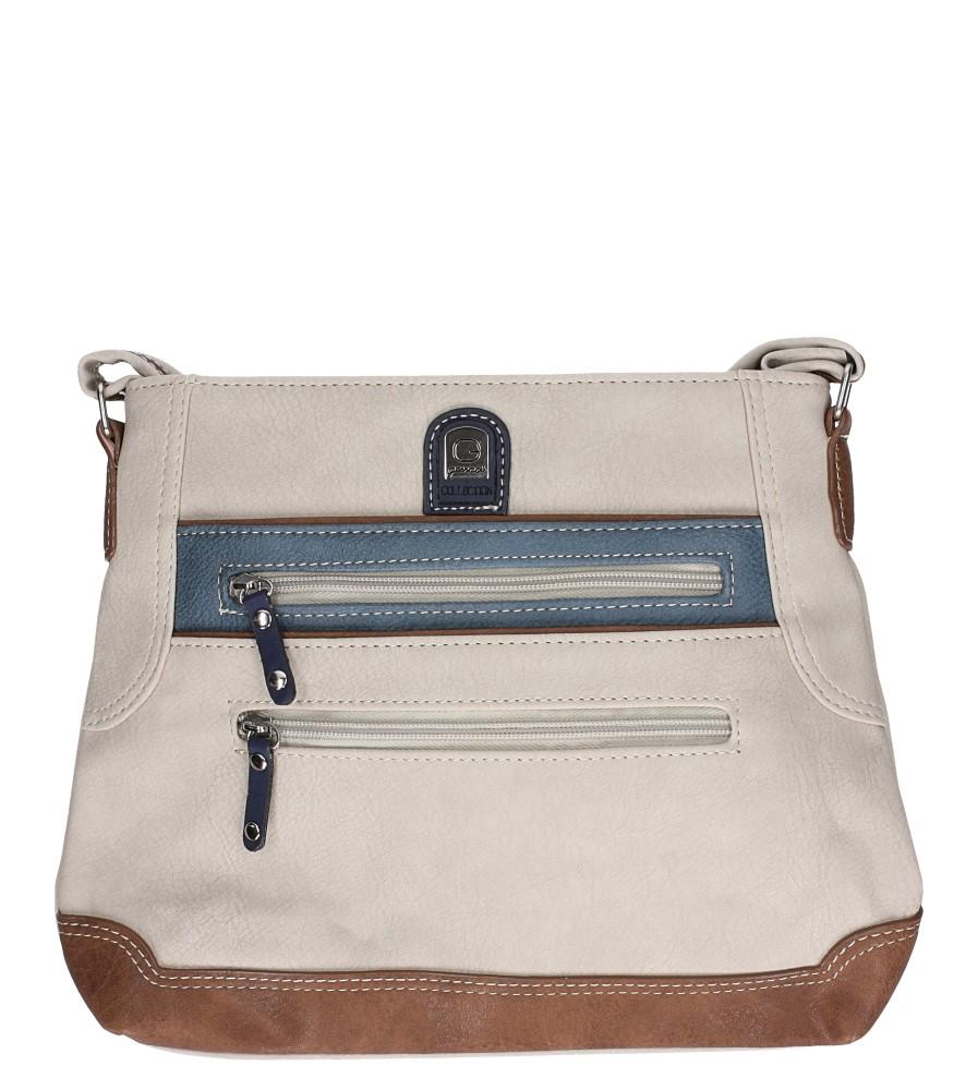 Beżowa torebka listonoszka z kieszonką z przodu Casu 1609D