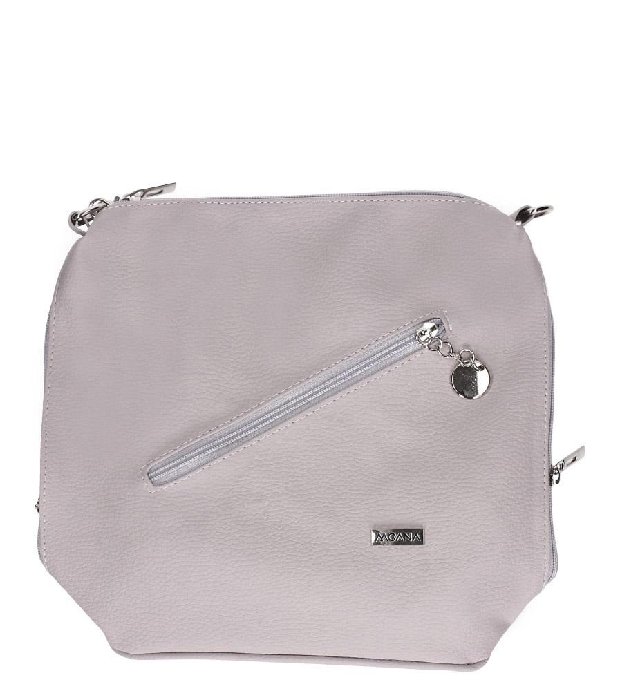Beżowa torebka listonoszka z kieszonką z przodu Casu M-2
