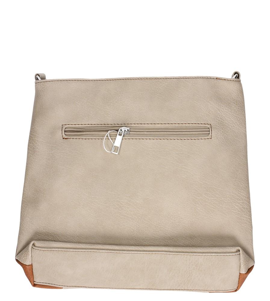 Beżowa torebka listonoszka z kieszonką z przodu Casu Z-2691 kolor beżowy, brązowy