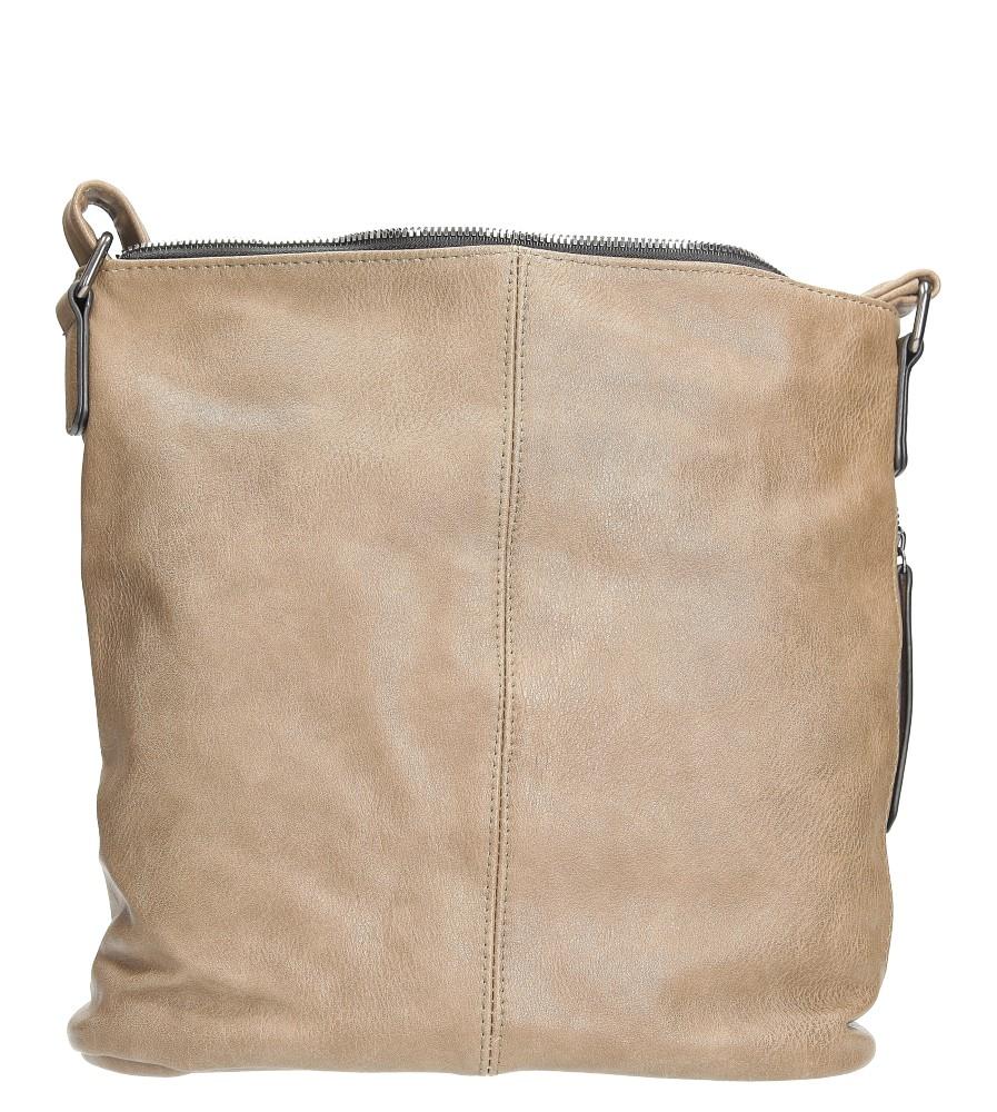 Beżowa torebka listonoszka z metalową ozdobą Casu 7719