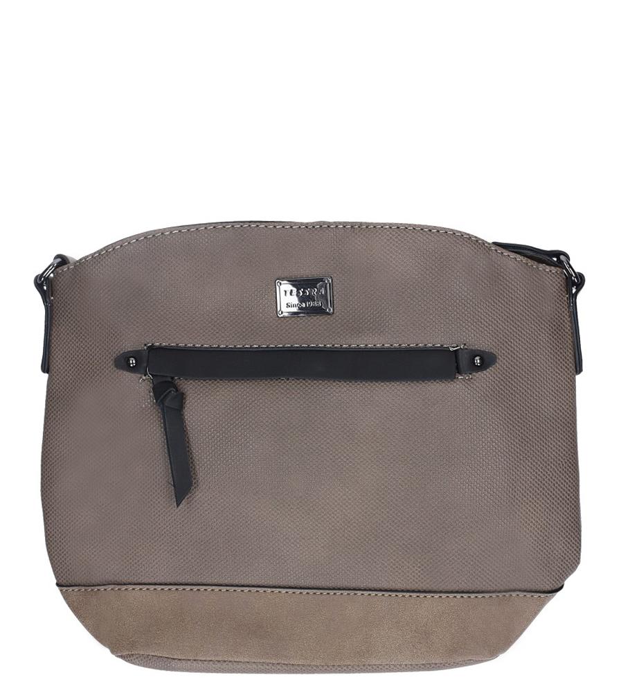 Beżowa torebka listonoszka z ozdobnym suwakiem Casu 3901-TS