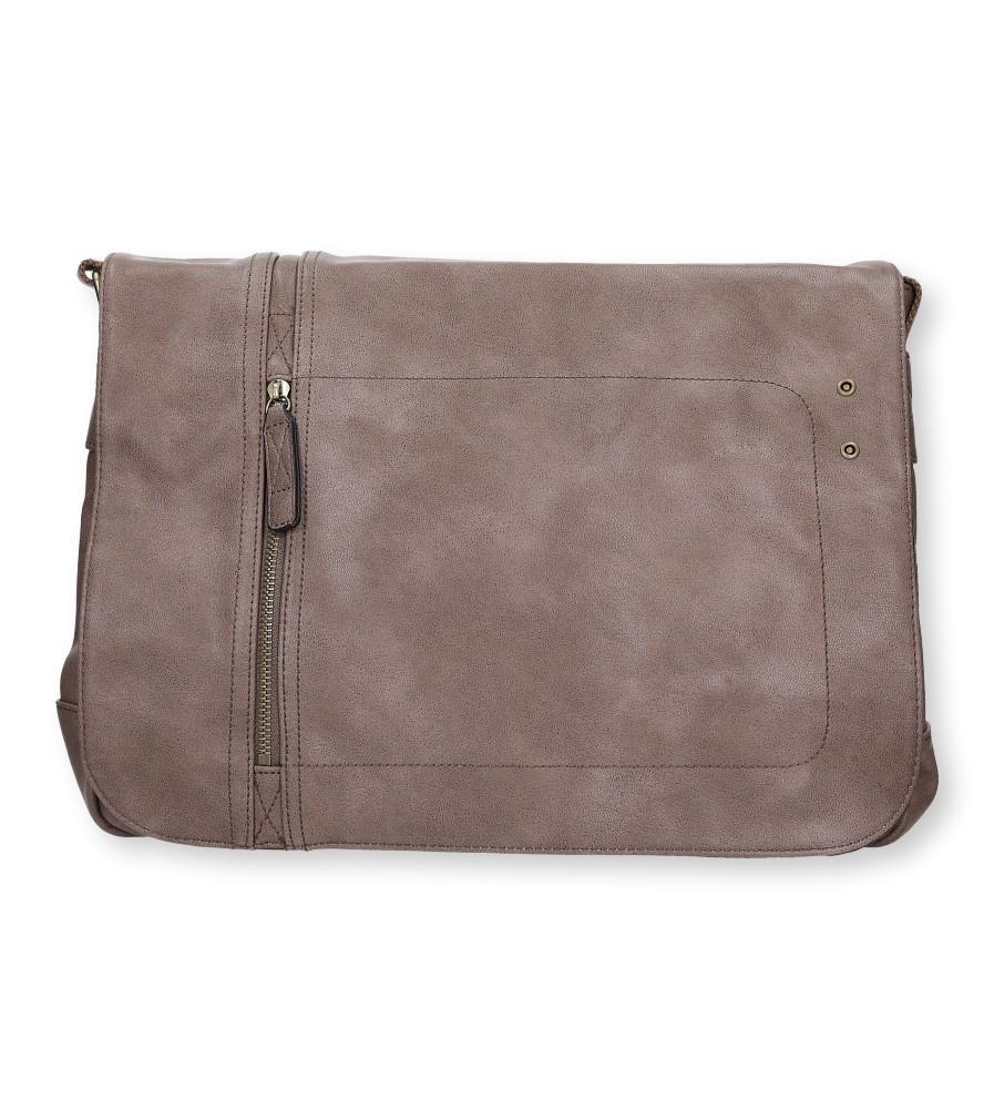 Beżowa torebka listonoszka z ozdobnym suwakiem Casu 661-MH
