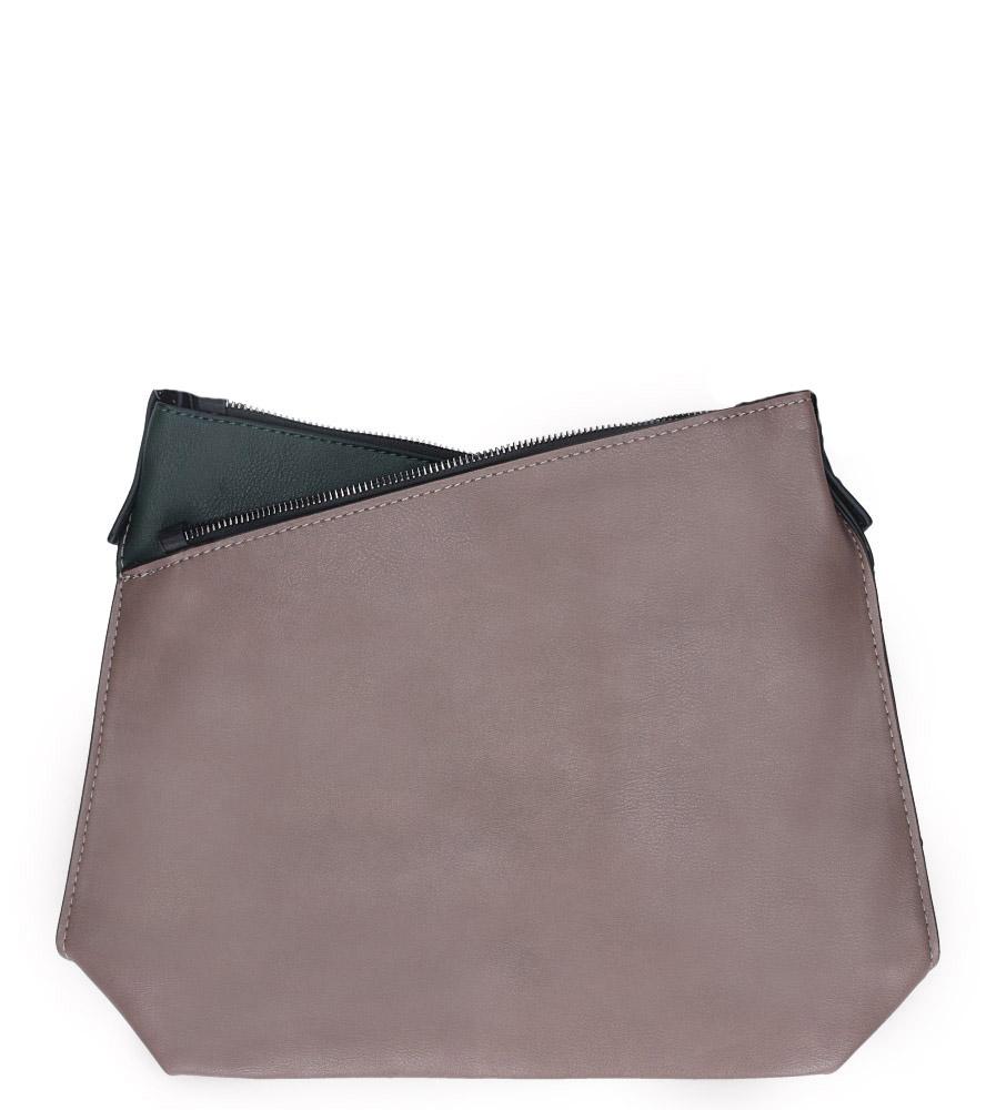 Beżowa torebka listonoszka z ozdobnymi suwakami Casu 3704-BB