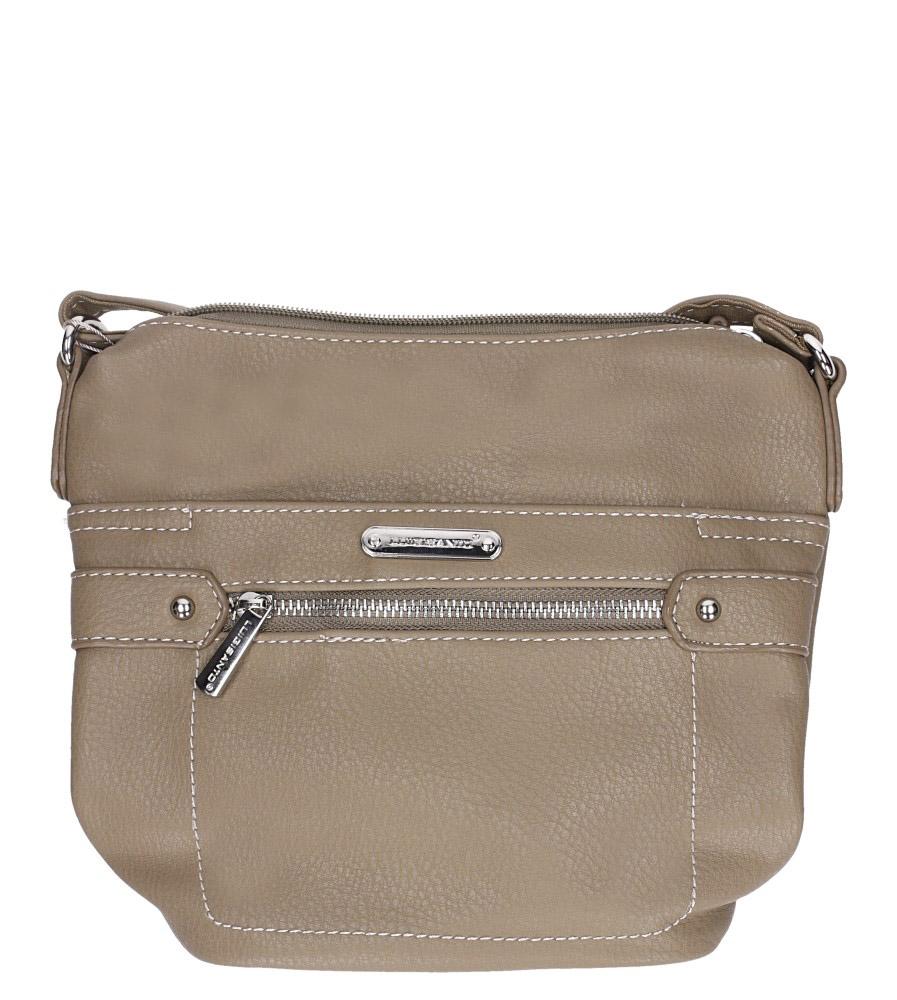 Beżowa torebka mała z kieszonką z przodu Casu 5718-1